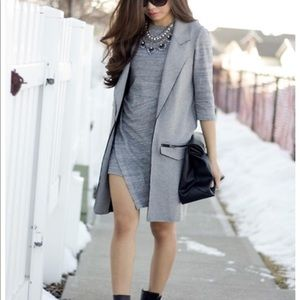 TopShop Grey Long Vest